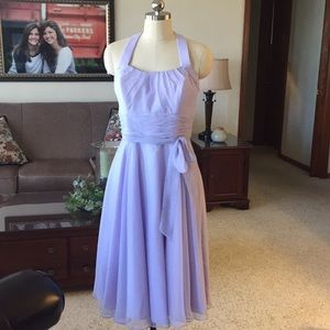 Beautiful Mori Lee Lavender Lilac Halter Dress 14